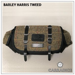 Carradice Barley Harris Tweed Black Saddlebag